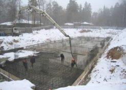 Последствия замораживания бетона при заливке