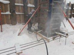 Продувка снега